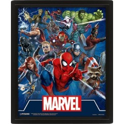 MARVEL - 3D Lenticular Poster 26X20 - Cinematic Icons 175842  Magnetische Posters