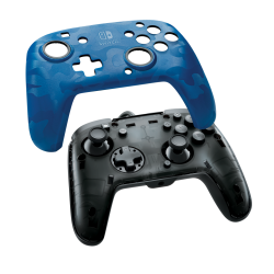 Official Faceoff Deluxe+ Audio Wired Blue Controller - Nintendo Switch 175939  Nintendo Switch Accessoires
