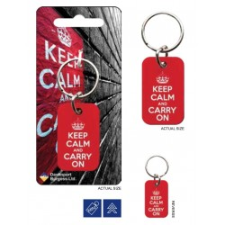 KEEP CALM - Metal Keychain - Red 176036  Sleutelhangers