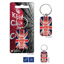 KEEP CALM - Metal Keychain - Union Jack 176037  Sleutelhangers