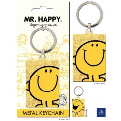 MR. MEN LITTLE MISS - Metal Keychain - Mr. Happy 176053  Sleutelhangers