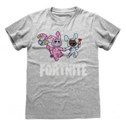 FORTNITE - T-Shirt Kids Bunny Trouble - Grey (7-8 Years) 176204  T-Shirts Fortnite