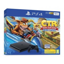 Console PS4 SLIM - 500 GB Bundle Crash Team Racing - Playstation 4 175523  PS4