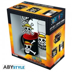ONE PIECE - Gift Box (Glass+ Keychain + Mini Mug) - Skull Luffy 176753  One Piece