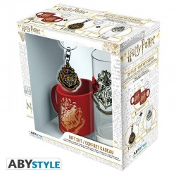 HARRY POTTER - Gift Box (Glass+ Keychain + Mini Mug) - Hogwarts 176756  Harry Potter