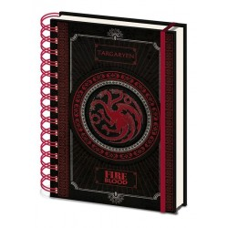 GAME OF THRONES - Notebook A5 - Tagaryen 167611  Notitie Boeken