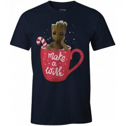GUARDIANS OF THE GALAXY - T-Shirt Groot - Make a Wish (S) 177021  T-Shirts Guardians of the Galaxy
