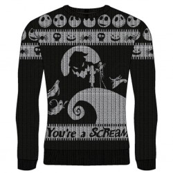 NIGHTMARE BOFRE CHRISTMAS - You're A Scream - Christmas Jumper (S) 177370  Nightmare before Christmas Kerst Truien