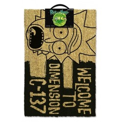 RICK & MORTY - Door Mat 40X60 - Welcome Dimension C-137 Black