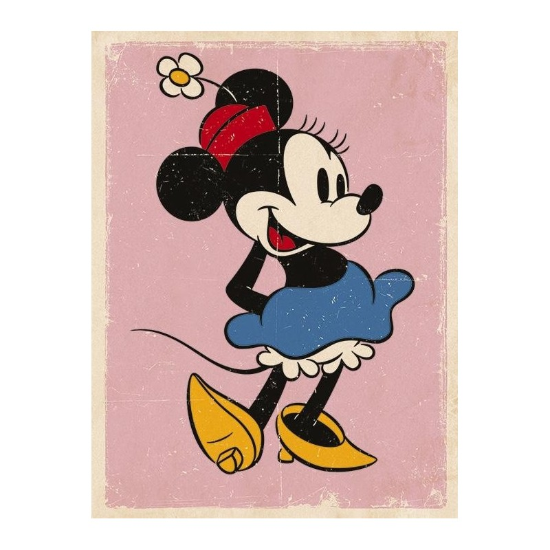 DISNEY - Canvas 40X50 '18mm' - Minnie Mouse Retro 167533  Ingelijst