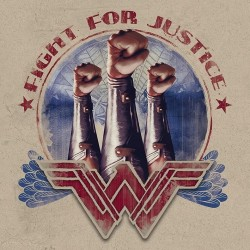 WONDER WOMAN - Canvas 40X40 '18mm' - Fight For Justice 167531  Frames