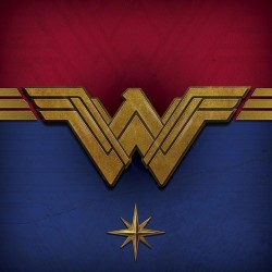 WONDER WOMAN - Canvas 40X40 '18mm' - Emblem 167530  Ingelijst