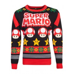 SUPER MARIO - Logo - Knitted Merry Christmas Sweater (XXL) 178116  Kerst Kledij