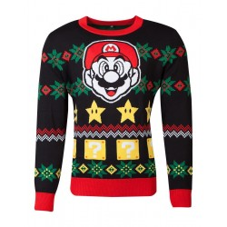 SUPER MARIO - Mario - Knitted Merry Christmas Sweater (XXL) 178121  Kerst Kledij