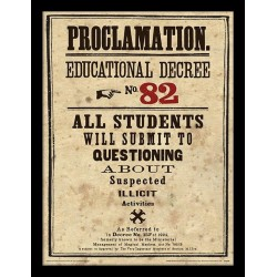 HARRY POTTER - Framed 30X40 Print - Educational Decree No. 82 178755  Ingelijst