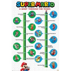SUPER MARIO - Poster 61X91 - A Wrap Through the Years 178773  Posters