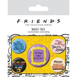 FRIENDS - Pack 5 Badges - Quotes 178794  Nieuwe imports