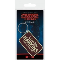 STRANGER THINGS - Rubber Keychain - Leaving Hawkins 178796  Sleutelhangers