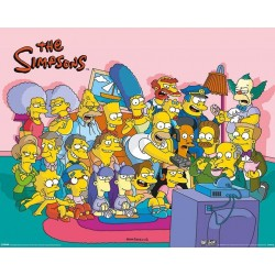 SIMPSONS - Mini Poster 40X50 - Couch Group 179083  Posters