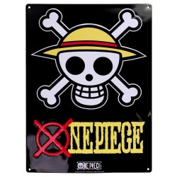 ONE PIECE - Plaque Metal 28 X 38 - Skull Luffy 167476  Metalen Wand Borden
