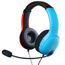 Official Nintendo Wired Headset LVL40 Switch Blue / Red - Switch - Nintendo Switch 176489  Switch Headsets