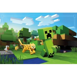 MINECRAFT- Poster 61X91 - Ocelot Chase 179127  Posters