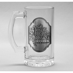PEAKY BLINDERS - Beer Glass 500ml Metal Badge - Shelby Company 179175  Bierglazen