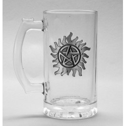 SUPERNATURAL - Beer Glass 500ml Metal Badge - Anti-Possession 179177  Bierglazen