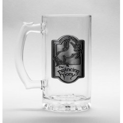 LORD OF THE RINGS - Beer Glass 500ml Metal Badge - Prancing Pony 179179  Bierglazen