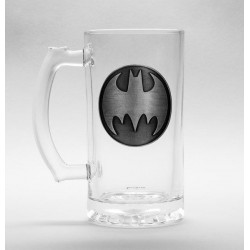 DC COMICS - Beer Glass 500ml Metal Badge - Batman Logo 179183  Bierglazen