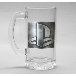 PLAYSTATION - Beer Glass 500ml Metal Badge - Logo 179186  Bierglazen