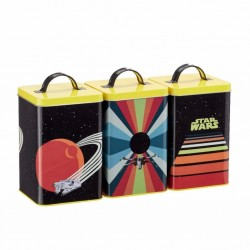 STAR WARS - Kitchen Storage 3 Piece Set - Retro Vehicles 179357  Keuken Opberg Boxen