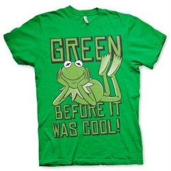 The MUPPETS - T-Shirt - Kermit Green, before it Was Cool ! (S) 178435  T-Shirts The Muppets