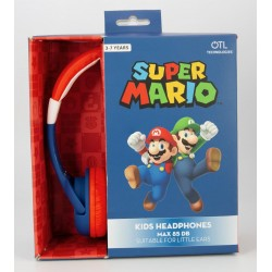 NINTENDO - HeadPhones OTL 3-7 Junior 85db - Super Mario 179470  HeadPhones