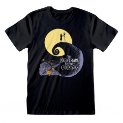 NIGHTMARE BEFORE CHRISTMAS - T-Shirt - Silhouette (XXL) 179677  T-Shirts Nightmare Before Christmas