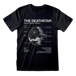 STAR WARS - T-Shirt - Death Star Sketch (S) 179698  T-Shirts Star Wars