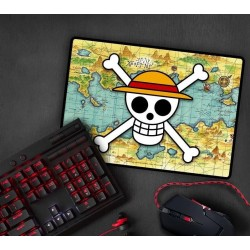 ONE PIECE - Gaming Mouse Pad 35x25 - Skull with Map 180418  PC Muizen & Muismatten