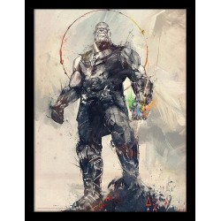 MARVEL - Framed 30X40 Print - Avengers: Infinity War - Thanos Sketch 180548  Posters