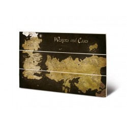 GAME OF THRONES - Wood Print 20x29.5 - Westeros & Essos Map 180560  Houten Canvas