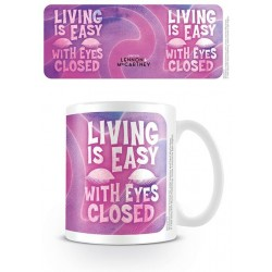 LENNON & MCCARTNEY - Mug - 315 ml - Living Is Easy With Eyes Closed 180592  Lennon & Mccartney