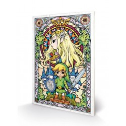 THE LEGEND OF ZELDA - Wood Print 20x29.5 - Stained Glass 181214  Houten Canvas