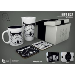 STAR WARS - Giftbox - Pint, mug & 2 coasters - Stormtrooper B&W 182147  Nieuwe imports