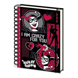 HARLEY QUINN - I'm Crazy For You - Notebook A5 182635  Notitie Boeken