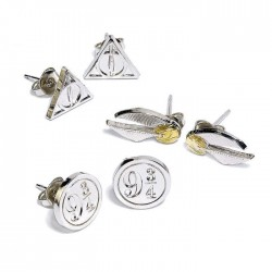 HARRY POTTER - Snitch / Deathly Hallows / 9 3/4 - Set of Studs