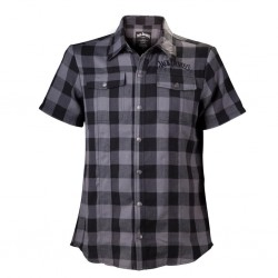 JACK DANIEL'S - Checks Shirt - SHORT Black/Grey Men (S) 142513  Bloes - Hemden