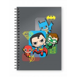 DC COMICS - Justice League Chibi - A5 Spiral Notebook 183403  Notitie Boeken