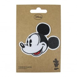 DISNEY - Mickey Face - Iron-on Patch 183358  Kleding Patches