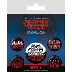 STRANGER THINGS - Characters - Pack 5 badges 183539  Badges