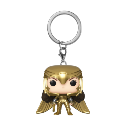 WW84 - Pocket Pop Keychains - Wonder Woman Gold Wing - 4cm 184189  Sleutelhangers