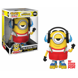 "MINIONS 2 - Bobble Head POP N° 906 - Roller Skating Stuart 10"" 184289  Funko Pops"